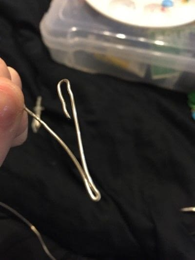How to make a wire wrapped pendant. Sword Pendant - Step 3