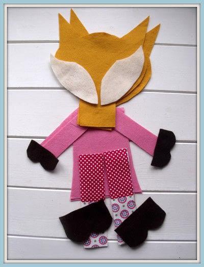 How to make a fox plushie. Sweet Little Fox Doll - Step 1