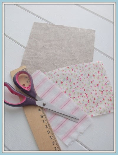 How to make a scent pouches. Sweet Lavender Pillow - Step 1