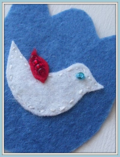How to make a fabric bookmark. Folklore Book Mark - Step 5