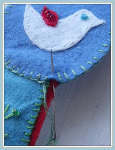 How to make a fabric bookmark. Folklore Book Mark - Step 7