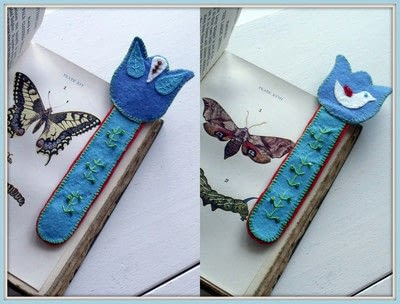 How to make a fabric bookmark. Folklore Book Mark - Step 9