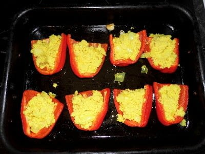 How to cook a stuffed pepper. Couscous And Homemade Halloumi Stuffed Peppers - Step 8