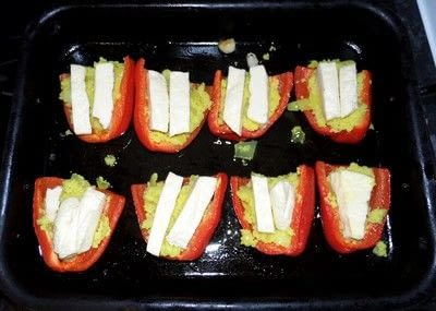 How to cook a stuffed pepper. Couscous And Homemade Halloumi Stuffed Peppers - Step 9