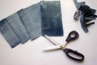 How to make a blouse. [Diy] Mended Denim Shirt à La Frankenstein Style - Step 2