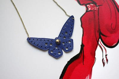 How to make a leather necklace. [Diy] Butterfly Necklace - Step 8
