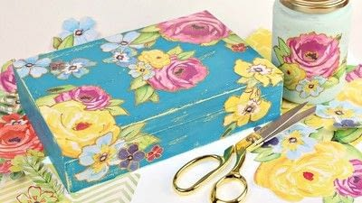 How to make a box. Vintage Gift Box Diy - Step 4