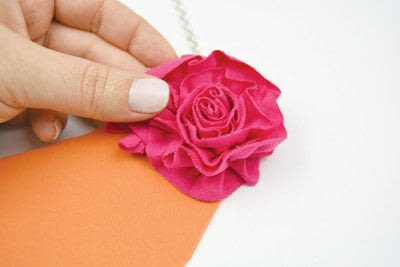 How to make a collar / bib. Floral Bib Style Necklace - Step 6