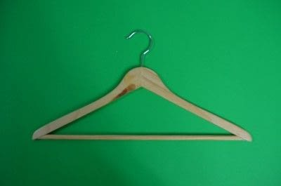 How to make a clothes hanger. Painted Wooden Hangers - Step 1