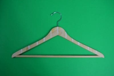 How to make a clothes hanger. Painted Wooden Hangers - Step 2