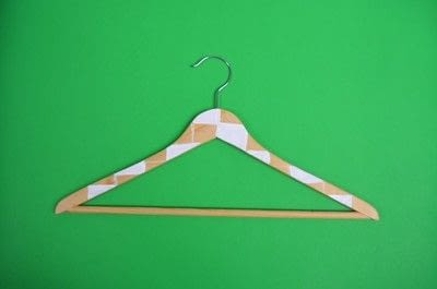 How to make a clothes hanger. Painted Wooden Hangers - Step 4