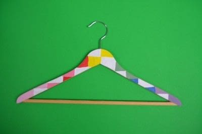 How to make a clothes hanger. Painted Wooden Hangers - Step 5