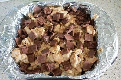 How to make a s'more. S'mores Bars - Step 3