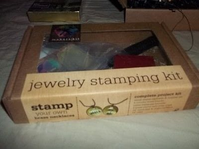 How to stamp a stamped metal pendant. Jewelry Stamping - Step 1