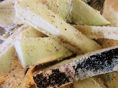How to cook fries. Aubergine And Sumac Fries With A Lemon And Tahini Dressing - Step 2