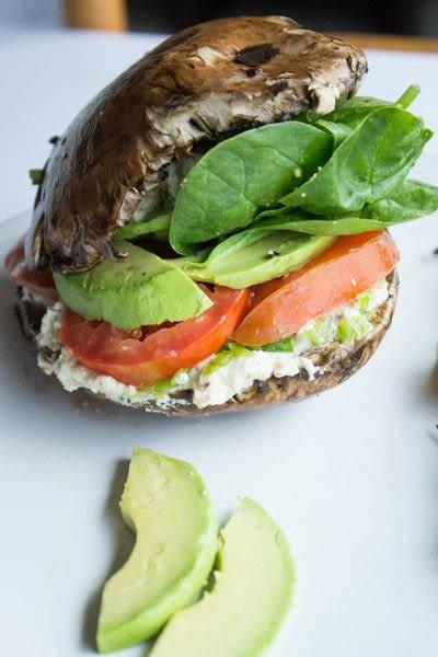 How to cook a mushroom burger. Portobello Mushroom Burger (Raw, Vegan, Gluten Free And Dairy Free) - Step 3
