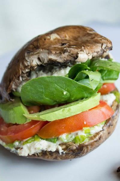 How to cook a mushroom burger. Portobello Mushroom Burger (Raw, Vegan, Gluten Free And Dairy Free) - Step 4