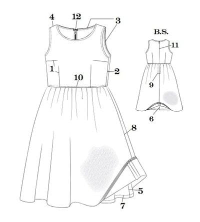 How to sew a hand sewn dress. Dress With Tulle Overskirt - Step 2