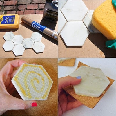 How to make a coaster. Diy Marble Coasters - Step 1