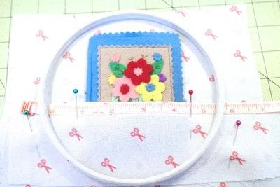 How to make a sewing kits. Embroidery Hoop Sewing Kit - Step 7