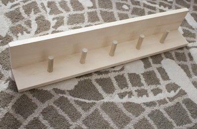 How to make a shelf. Diy Bathroom Towel Pegs And Shelf - Step 4