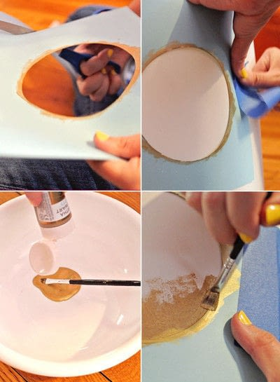 How to make a lamp / lampshade. Polka Dot Lampshade - Step 1