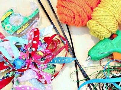How to make a fabric bracelet. Fabric Tassel Bracelets - Step 2