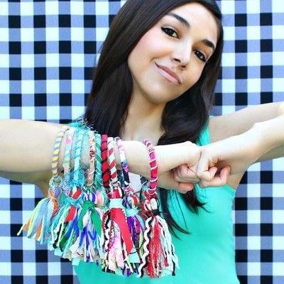 How to make a fabric bracelet. Fabric Tassel Bracelets - Step 4