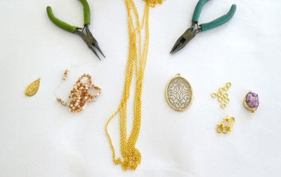 How to make a pendant necklace. Dainty Layered Necklaces Diy! - Step 1