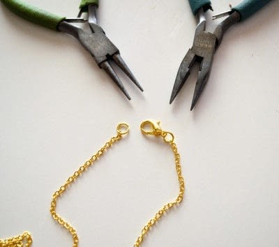 How to make a pendant necklace. Dainty Layered Necklaces Diy! - Step 7