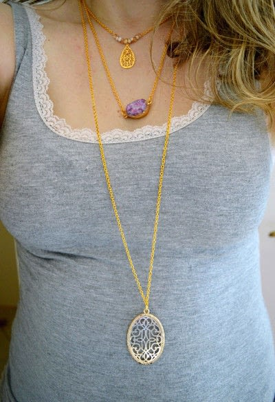 How to make a pendant necklace. Dainty Layered Necklaces Diy! - Step 8