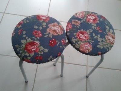 How to make a stool. Stool Makeover - Step 17