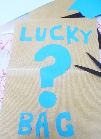 How to make a gift bag. Lucky Bag - Step 2