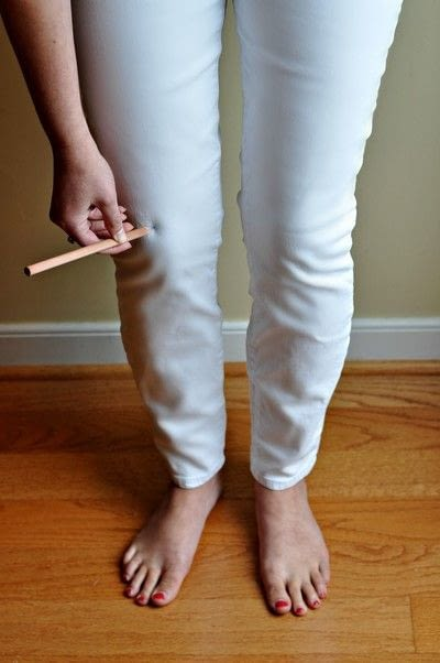 How to rip a pair of ripped jeans. Diy Distressed Denim - Step 1