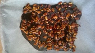 How to cook brittle / bark. 5 minute Peanut Brittle  - Step 5