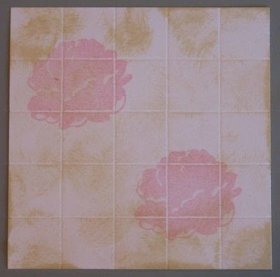How to make a papercraft. Creating A Faux Tile Background For Cards - Step 7