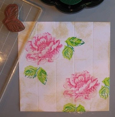 How to make a papercraft. Creating A Faux Tile Background For Cards - Step 8