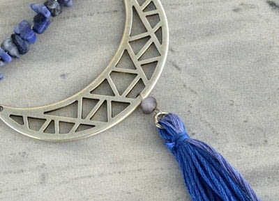 How to make a tassel necklace. Boho Chic Tassel Necklace  - Step 7