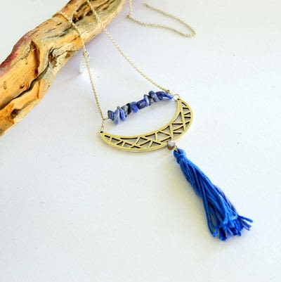 How to make a tassel necklace. Boho Chic Tassel Necklace  - Step 8