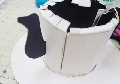 How to make a top hat. Teapot Top Hat - Step 14