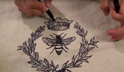 How to make a stitched cushion. Bee Yourself Pillow - Step 4