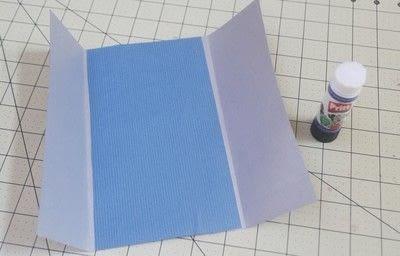 How to make  an embellished card. Superhero Boyfriend Card - Step 2