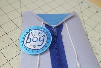 How to make  an embellished card. Superhero Boyfriend Card - Step 10