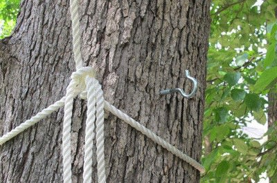 How to make an outdoor accessory. Watermelon Rope Swing - Step 3
