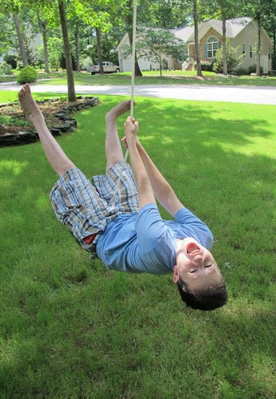 How to make an outdoor accessory. Watermelon Rope Swing - Step 4