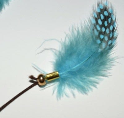 How to make a feather hair clip. Feather Hair Tie! - Step 6