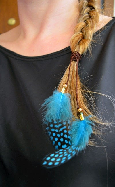 How to make a feather hair clip. Feather Hair Tie! - Step 7