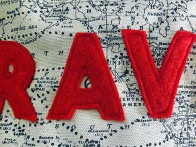 How to sew an applique cushion. Let's Travel - Step 3