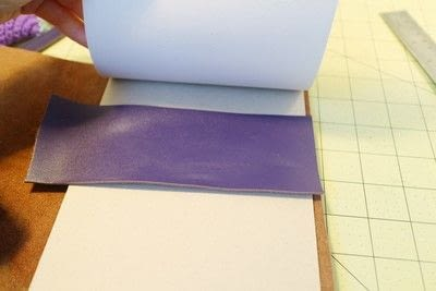 How to make a leather journal. Satchel Notebook - Step 4