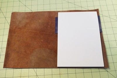 How to make a leather journal. Satchel Notebook - Step 7